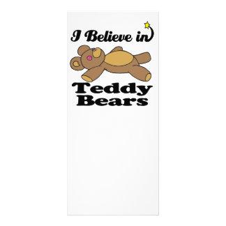 creo en osos de peluche diseño de tarjeta publicitaria