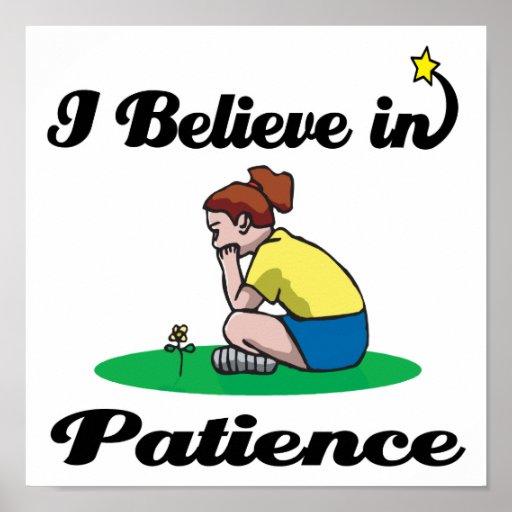 creo en paciencia impresiones