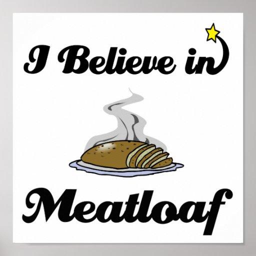 creo en pan con carne póster