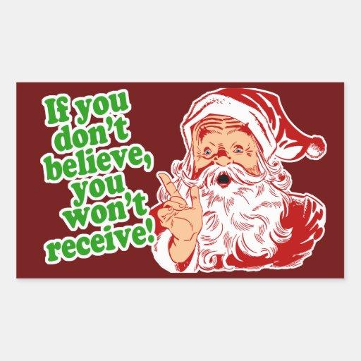 Creo en Papá Noel Rectangular Altavoz