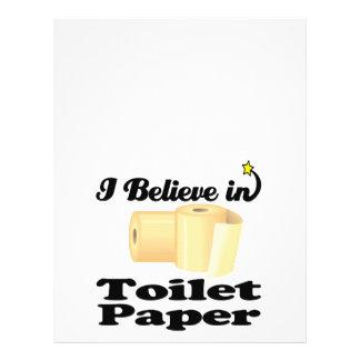 "creo en papel higiénico folleto 8.5"" x 11"""