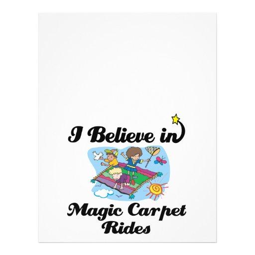 creo en paseos mágicos de la alfombra flyer personalizado