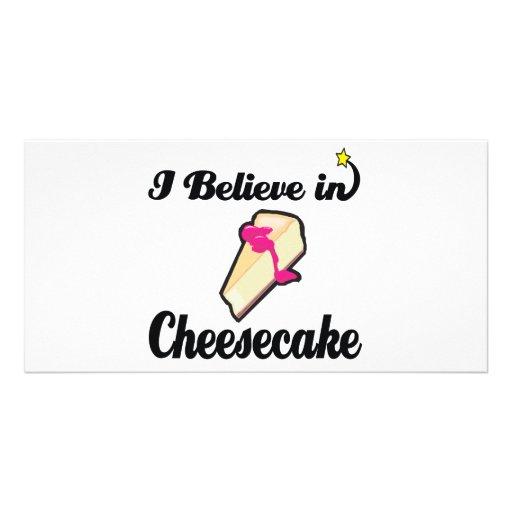 creo en pastel de queso tarjetas personales