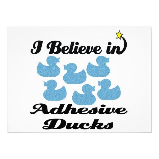 creo en patos adhesivos anuncios