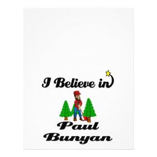 "creo en Paul Bunyan Folleto 8.5"" X 11"""