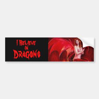 Creo en pegatina para el parachoques de los dragon pegatina para auto
