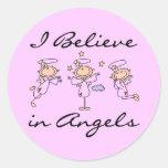 Creo en pegatinas de los ángeles pegatina redonda