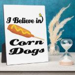 creo en perros de maíz placa de madera