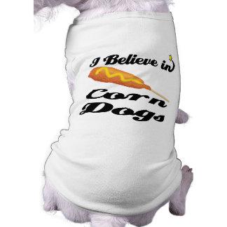 creo en perros de maíz camisetas de perro
