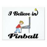 """creo en pinball invitación 4.25"""" x 5.5"""""""