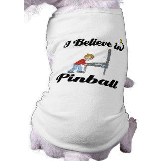 creo en pinball playera sin mangas para perro