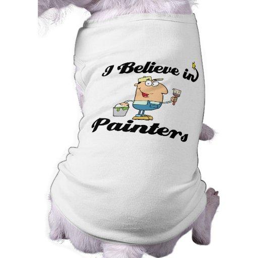 creo en pintores camisetas de perrito