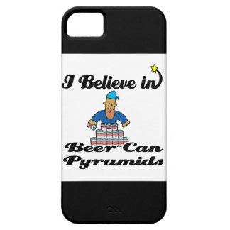 creo en pirámides de la lata de cerveza iPhone 5 funda