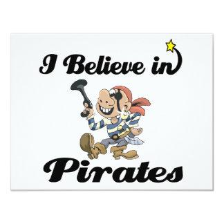 """creo en piratas invitación 4.25"""" x 5.5"""""""