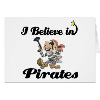 creo en piratas tarjeta de felicitación