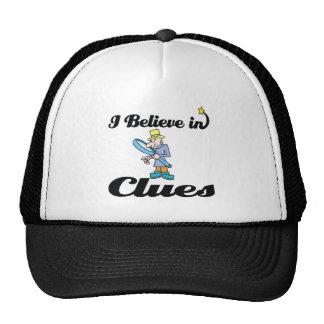 creo en pistas gorras