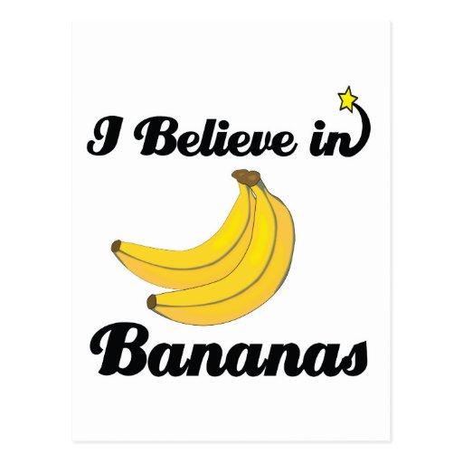 creo en plátanos postal