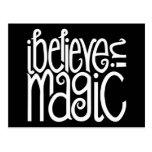 Creo en postal blanca mágica