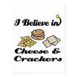 creo en queso y galletas