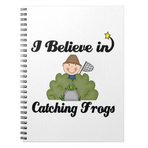 creo en ranas de cogida libretas