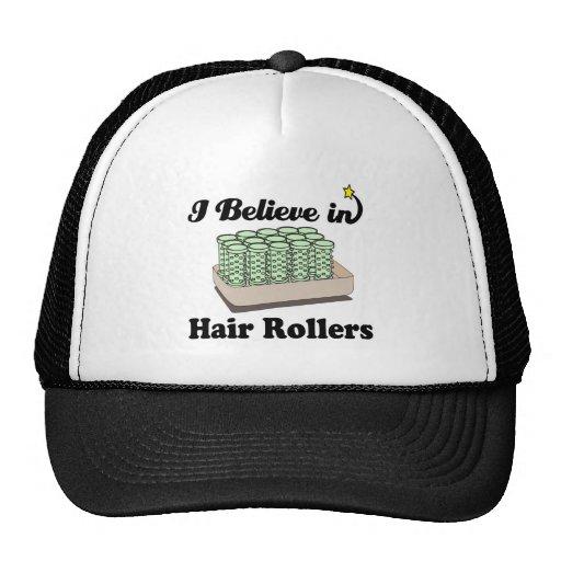 creo en rodillos del pelo gorras de camionero