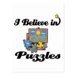 creo en rompecabezas postal