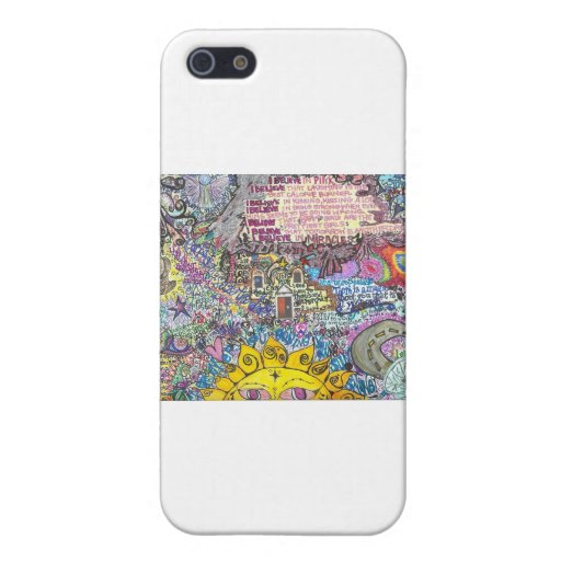 Creo en rosa iPhone 5 protector