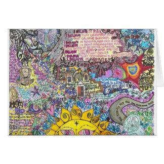 Creo en rosa tarjeta de felicitación