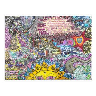 Creo en rosa tarjetas postales