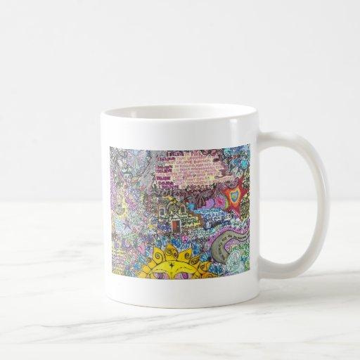 Creo en rosa taza de café