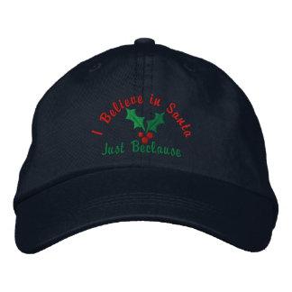 Creo en Santa… apenas Beclause Gorras De Béisbol Bordadas
