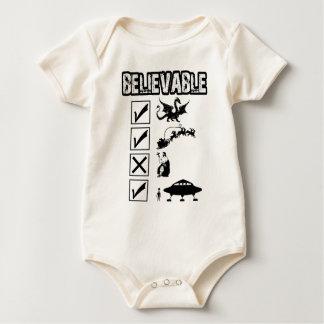 Creo en Santa Mameluco De Bebé