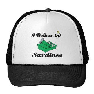 creo en sardinas gorros bordados