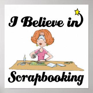 creo en scrapbooking póster