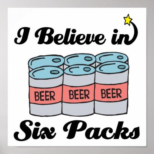 creo en seis paquetes póster