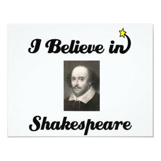 """creo en shakespeare invitación 4.25"""" x 5.5"""""""