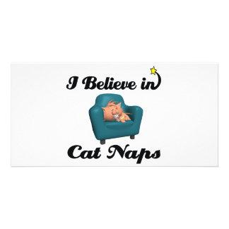 creo en siestas del gato tarjetas fotográficas