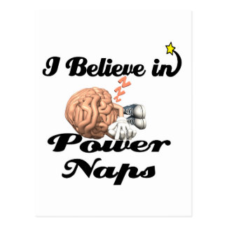 creo en siestas del poder tarjeta postal