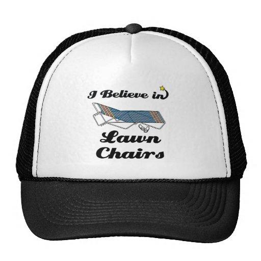 creo en sillas de jardín gorros