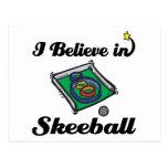 creo en skeeball tarjeta postal