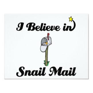 creo en snail mail invitación 10,8 x 13,9 cm