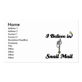 creo en snail mail tarjetas de visita
