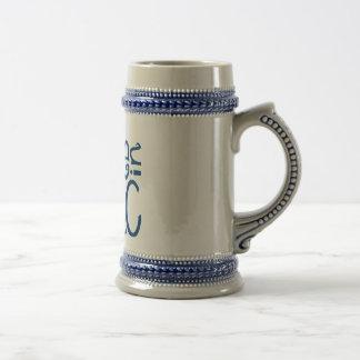 Creo en Stein azul mágico Jarra De Cerveza