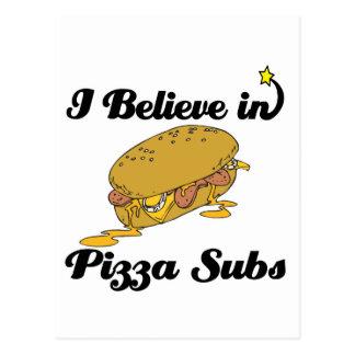 creo en submarinos de la pizza postales