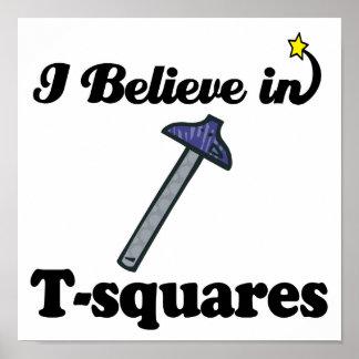 creo en t-cuadrados impresiones