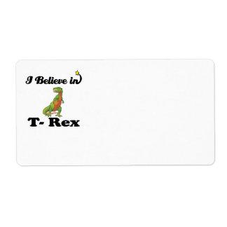 creo en t-rex etiquetas de envío