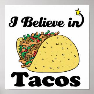 creo en tacos poster