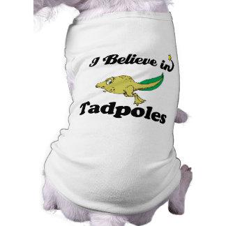 creo en tadpoles playera sin mangas para perro