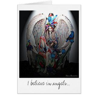 Creo en tarjeta de felicitación de los ángeles