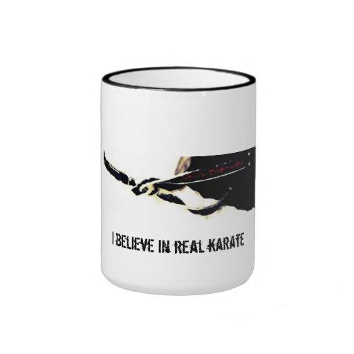 Creo en taza real del karate
